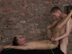 Skinny Twink Dmitry Olsen Gets Tied Up And Fucked Hard
