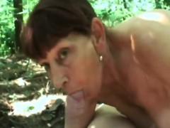 Granny Woods Sucking Big Dick Fucking Doggy Style