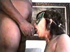 Masked Brunette Gets A Tasty Black Cock