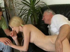 young twat of a woman girl slammed by old experienced weenie