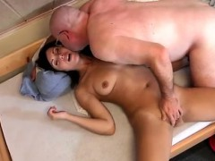 Old Young Lesbian Slave Scarlet Is To Late With Paying The R