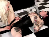 Lorelei penetrates Joannas dirty fuck holes with sex toys