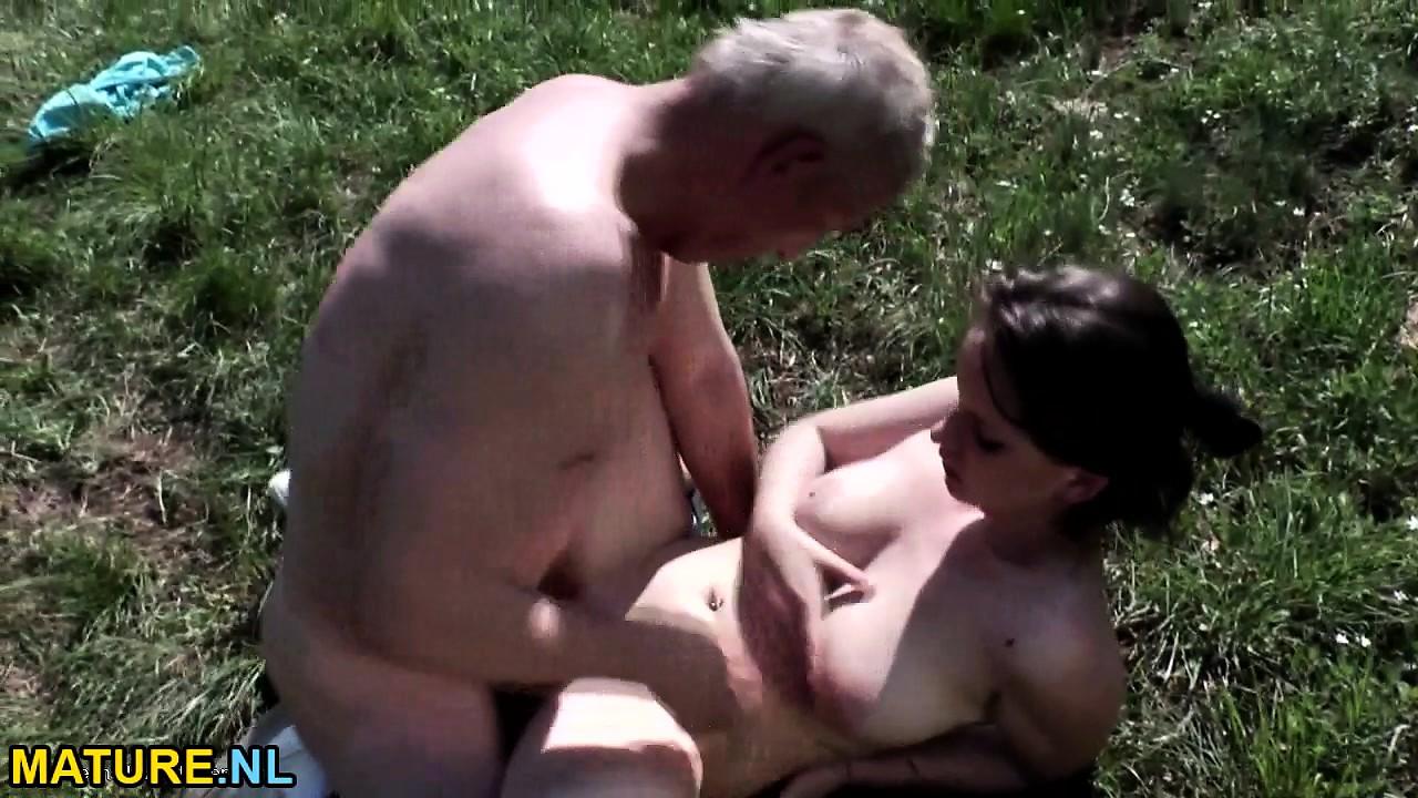 Hot Blonde Teen Fucks Old Man