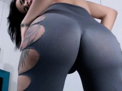 Tattooed Tranny Showing Her Perfect Big Butt