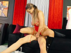 German Big Tit Milf Seduce Young Boy To Fuck When Alone