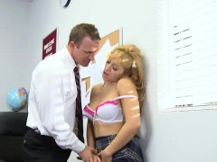 Mrs. Smith Loves Arousing Her Student In Class
