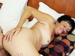 Sexy Ass Brunette Teen Gets Fingered By Older Granny