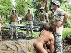 Ebony Army Hunks Sucking White Cock Outdoor
