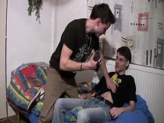 Euro college amateurs milking cum on camera