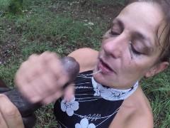 Black Cock Throatfuck In Wood Part Marlo