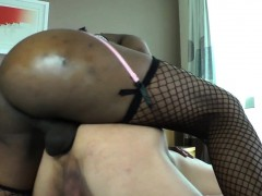 Black Tranny Barebacking Lucky Dudes Ass