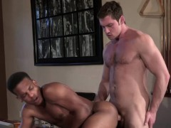 Gay Interracial Fuck On The Pool Table