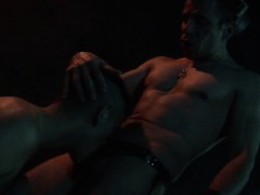 older-sm-stud-deepthroats-his-kneeling-twink-slave