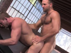 Muscular Hunk Getting Smashed By Big Dick Business Man
