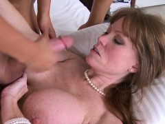 bigtitted mature lady trio with woman couple