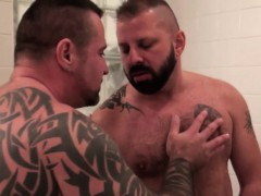 Inked Top Bear Assfucking In The Shower