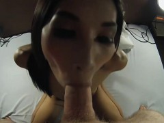 Teen Ladyboy Sucks Mad Dick And Gets Anal Doggystyled