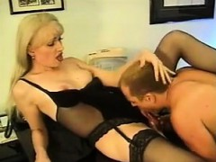 Luxurious Spooging For Blonde In Sexy Lingerie