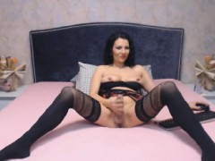gorgeous-tranny-with-big-cock-jerking-off
