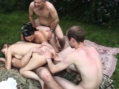 Russian Group Oldyoung Orgy Outdoor
