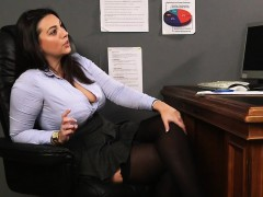 cfnm-office-domina-laughs