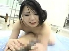 Alluring Japanese Masseuse Pleases A Stiff Cock With Her Gi