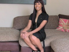 Redhead Ebony Sucks And Fucks In Casting