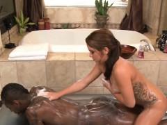 brunette masseuse fucking black penis in shower xxx.harem.pt