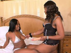 Hot Girl on girl Action With Two Ebony Lookers