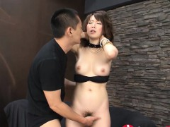 Sayaka Tsuzi Gets Her Hairy Little Muff Fingered Before A