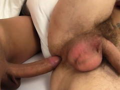 Gorgeous Busty Tgirl Assfucks Her Bf