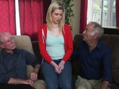 Mature Perv Will Teach A Slutty Teen Blonde How To Suck It