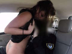 Fake Cop Bangs Hot Tanned Brunette Amateur Babe
