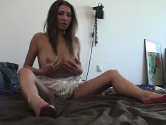 Desirable Babe Reveals Her Big Tits And Masturbates