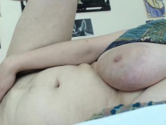 Big Tit Blonde Mature Handles Hairy Snatch