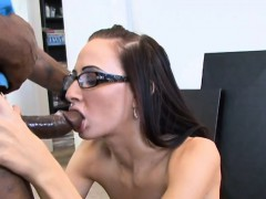 Girlfriends Wearing Glasses Making A Sextape At Home