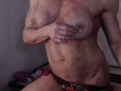Big Boobs Shaved Pussy Striptease