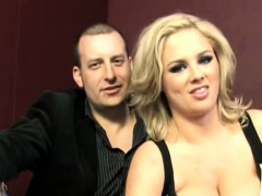 Busty Blonde Wife Katie Kox Takes Two Dongs