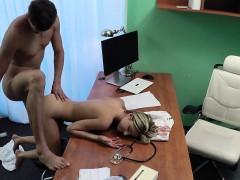 Doctor Bangs Slim Blonde Patient