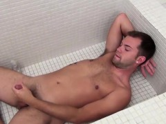 20 Year old Horned Up Preston Ettinger Gets In The Tub,