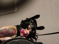 Tattooed Goth Babes Fucked Anally In Threeway
