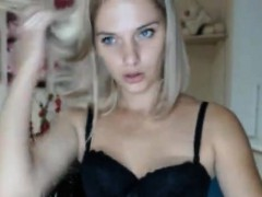 Small Titty Blonde In Red Lingerie Takes Black Cock