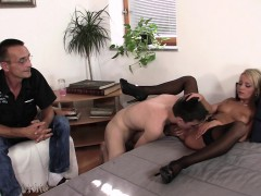 Husband's Friend Licks And Fucks His Blonde Wife