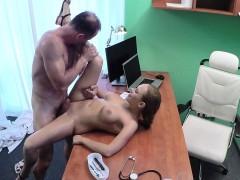 Russian Babe Jizzed By Doctor