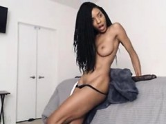 Ebony Teen Babe Shows Off With Huge Dildo part2 On Our Site