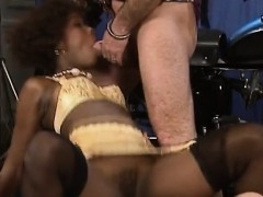 African Babe Blows And Rides Stiff White Cock