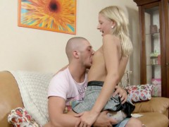 Hot Skinny Step-Sister Seduce Bro to Help her by first Anal
