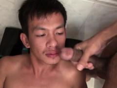 Asian Twink Drinks Piss