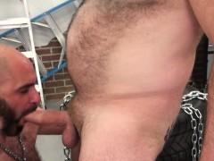 Chubby Cocksucker Barebacked By Mature Bear