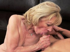 Spoon Fucked Granny Gets Jizzed In Mouth